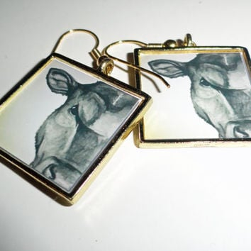 """Original piece of wearable artwork titled """" Angus """" by SamIamArt"""