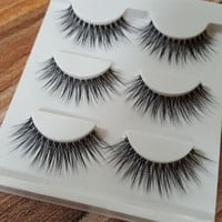 Sexy 100% Handmade 3D MINK Hair Beauty Thick Long False Mink Eyelashes