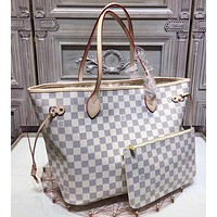 LV two piece  a set handbag and purse wallet  three colors bags
