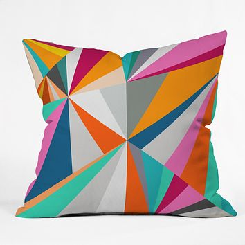 Three Of The Possessed Collins Ave Outdoor Throw Pillow