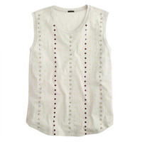 J.Crew Womens Stacked Sequin Shell