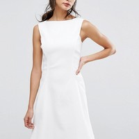 Reiss Textured Fit And Flare Dress at asos.com