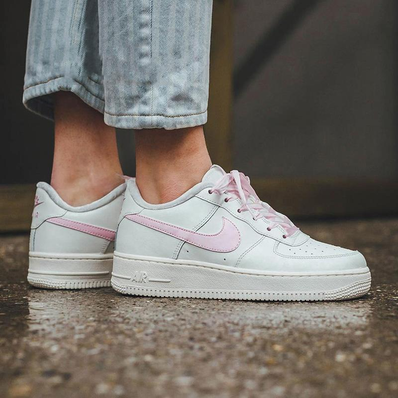 Image of Nike Air Force 1 men's and women's platform sneakers shoes