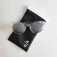 Forecast a Glance Sunglasses in Crystal by Quay from ModCloth