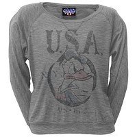 Donald Duck - USA Juniors Long Sleeve T-Shirt