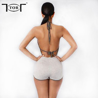 2 colors 2017 new style fashion rompers womens jumpsuit  tracksuits sexy short blackless sleeveless elegant casual XD520