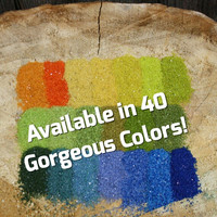 Floral Sand - Colored Sand for Plants - Wedding Unity Sand - Craft Projects - Fairy Garden - 1/2 Pound