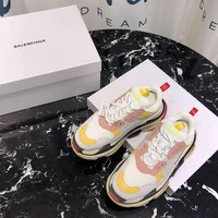Balenciaga White Pink Triple-S Dad Torre Sneakers Trainers Running Shoes