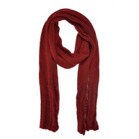 ZLYC Unisex Chunky Knit Twist Cable Weave Long Scarf Wrap Shawl with Braid Pattern