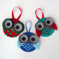 Owl Magnet - Owl Ornament - Multiple Styles & Colors!