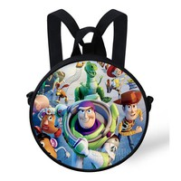 9-Inch Popular Mini Cute Baby Backpack Cartoon Toy Story Backpack Round For Children Boys Preschool Girls Kindergarten Bags