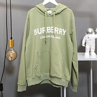 BURBERRY Fashion Women Men Casual Print Hoodie Sweater Sweatshirt Green