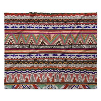"Vasare Nar ""Native Tessellation"" Fleece Throw Blanket"