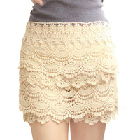Sweet Lace Cake Mini Skirt For Her