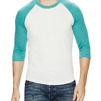 Alternative Apparel Men's Colorblock Baseball Shirt - Green -