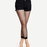 Fishnet Design Leggings