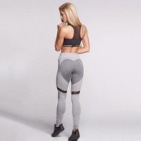 Glamour Heart Leggings (Grey)
