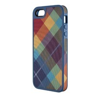 Speck Products FabShell Fabric-Covered Case for iPhone 5 & 5S  - MegaPlaid Spectrum