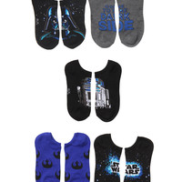 Star Wars Dark Side No-Show Socks 5 Pair