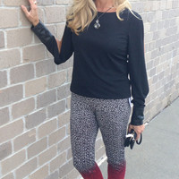 """Lisette L """"Thinny"""" Knit Pant With Gradient Pattern"""