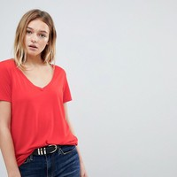 JDY V Neck T-Shirt at asos.com