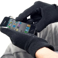 Non-Slip Smart Touch Gloves - Touch Screen Gloves For iPhone, iPad, iPod - Black   Men's L/XL - TCG