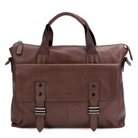 Man's leather business briefcase bag tablet pocket by Gear Band -