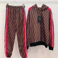 FENDI Women Long Sleeve Hoodie Pants Two-Piece