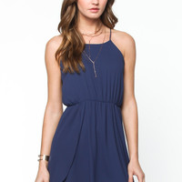 Navy Back Tie Detail Dress