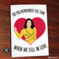 Do You Remember the Time - Michael Jackson Lyrics - Anniversary Love Greeting Card - When We Fell in Love - 4.5 X 6.25 Inches