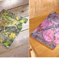 Cutting Board Camouflage Pink Green Tempered Glass NEW
