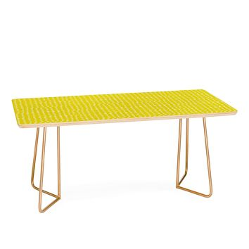 Leah Flores Sunshine Scribble Dots Coffee Table