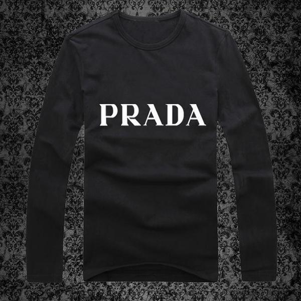 Image of Prada Men or Women Fashion Casual Long Sleeve Top Sweater Pullover