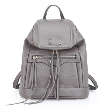 ZENCY Genuine Leather Women's Backpacks Cowhide Women Girl Shopping Natural Leather Backpack Tote Bags