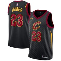LeBron James Cleveland Cavaliers # 23 Nike Black Swingman Statement Edition Jersey - Best Deal Online