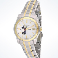 Disney Parks Mickey Golf Link Stainless Steel Watch by Bulova New with Box