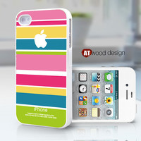 iphone 4s case iphone 4 cover unique iphone 4 cases colorized line red blue yellow colors design