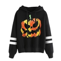 Halloween Pullover Hooded Sweatshirt
