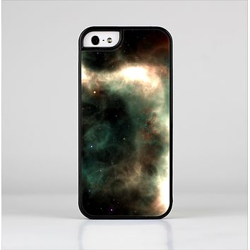 The Dark Green Glowing Universe Skin-Sert for the Apple iPhone 5-5s Skin-Sert Case