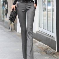 women's female trousers bell-bottom Speaker OL trousers = 1946530244