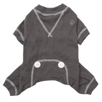 FouFou Thermal Dog Pajamas - Gray at BaxterBoo