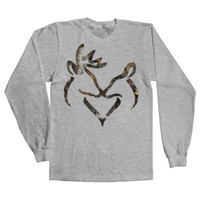 Camo Snuggling Buck & Doe T-Shirt