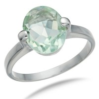 Vir Jewels Sterling Silver Green Amethyst Ring (1.70 CT)
