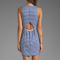 Eight Sixty Striped Tank Dress in Cobalt/White from REVOLVEclothing.com