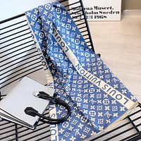 LV Louis Vuitton fashion lady full of letters temperament scarf shawl