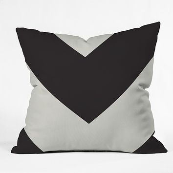 Triangle Footprint cbw2 Outdoor Throw Pillow