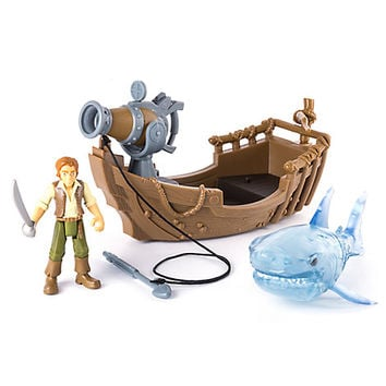 Pirates of the Caribbean: Dead Men Tell No Tales - Ghost Shark Attack Action Figure Play Set   Disney Store