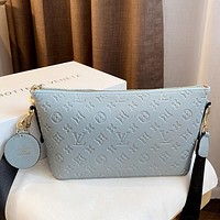 LV 2020 new embossed logo women's shoulder messenger bag