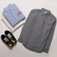Dickies T-shirt for teenagers Men Oxford Spinning Solid Shirt Casual Gray