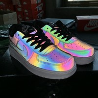 Nike Air Force 1 Chameleon Laser Newest Popular Women Men Casual Running Sport Shoes Sneakers